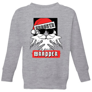 Gangsta Wrapper Kids' Christmas Sweatshirt - Grey