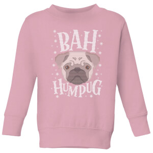 Bah Humpug Kids' Christmas Sweater - Baby Pink