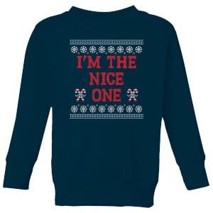 I'm The Nice One Kids' Christmas Sweatshirt - Navy