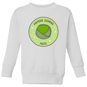 Haters Gonna Hate Kids' Christmas Sweatshirt - White