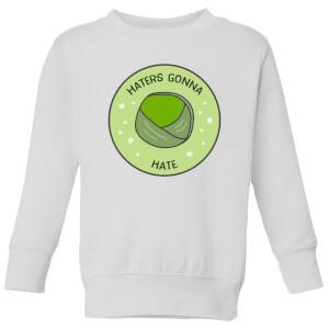 Haters Gonna Hate Kids' Christmas Sweatshirt - White