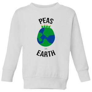 Peas On Earth Kids' Christmas Sweatshirt - White
