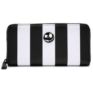 Loungefly Disney The Nightmare Before Christmas Striped Zip Around Wallet