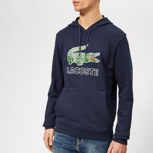 Lacoste Men's Large Logo Hoody - Navy