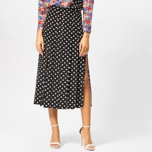 RIXO Women's Georgia Pearl Spot Skirt - Mono