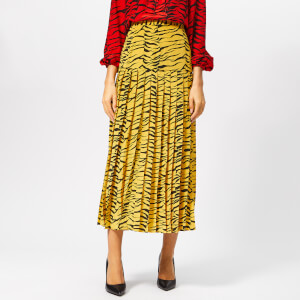 RIXO Women's Tina Tiger Skirt - Mustard Black