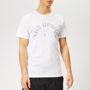The Upside Men's The Newman Horse Shoe Line Logo T-Shirt - White