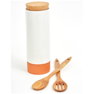 Jamie Oliver Pasta Holder with Spoons - Cool Grey