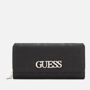 Guess Women's Heritage Pop Large Clutch Bag - Black