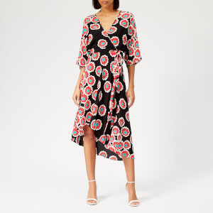 Diane von Furstenberg Women's Eloise Dress - Kimono Blossom Black