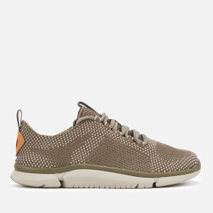Clarks Men's Triken Run Mesh Trainers - Olive
