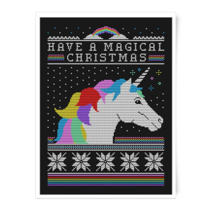 Have A Magical Christmas Fair Isle Art Print