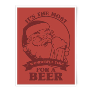 The Most Wonderful Time for A Beer Art Print