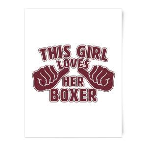 This Girl Loves Her Boxer Art Print