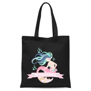 Mermaid Vibes Tote Bag - Black