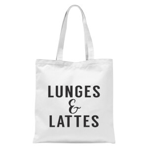 Lunges and Lattes Tote Bag - White