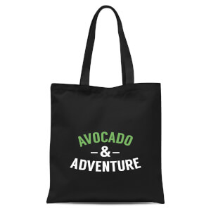 Avocado and Adventure Tote Bag - Black