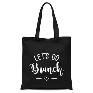 Lets Do Brunch Tote Bag - Black