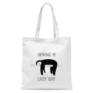 Having A Lazy Day Tote Bag - White