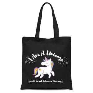 I Am A Unicorn Tote Bag - Black