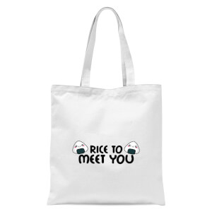 Rice To Meet You Tote Bag - White