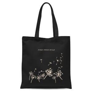 Find Your Wild Tote Bag - Black