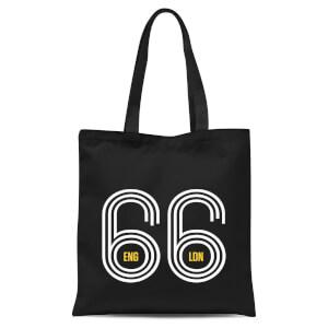 England 66 Tote Bag - Black