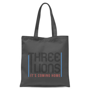 Three Lions Its Coming Home Tote Bag - Grey