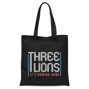 Three Lions Its Coming Home Tote Bag - Black
