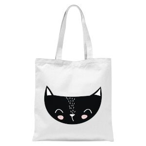 Cat Tote Bag - White