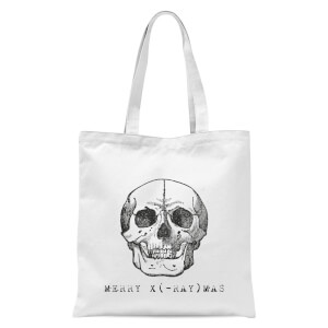 Merry X(-Ray) Mas Tote Bag - White
