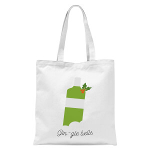Gin-gle Bells Tote Bag - White