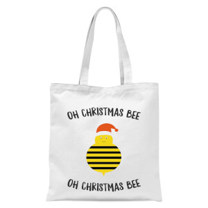 Oh Christmas Bee Oh Christmas Bee Tote Bag - White