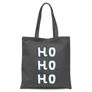 Ho Ho Ho Tote Bag - Grey