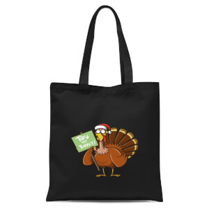 Tofu Not Turkey Tote Bag - Black