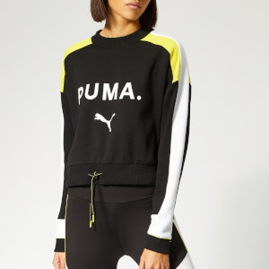 Puma Women's Chase Crew Neck Sweatshirt - Cotton Black