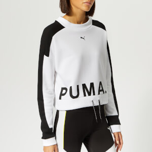 Puma Women's Chase Crew Neck Sweatshirt - Puma White
