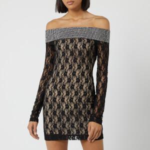 Christopher Kane Women's Mini Crystal Small Flo Dress - Black