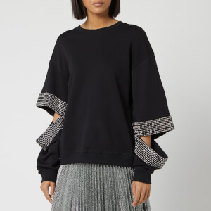 Christopher Kane Women's Crystal Slash Sweatshirt - Black