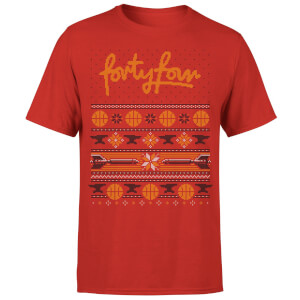 How Ridiculous Forty Four Knit Men's Christmas T-Shirt - Red