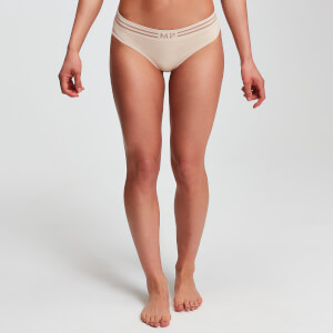 Tanga sin costuras Essentials para mujer de MP - Beis