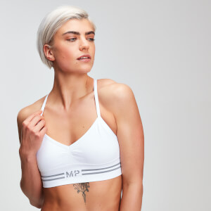 MP Damen Essentials Seamless Bralette - Weiß