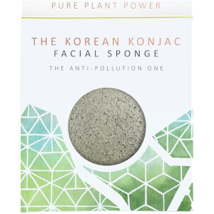Esponja facial The Elements Earth de The Konjac Sponge Company - Turmalina energizante 30 g