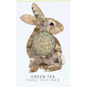 Мини-спонж для лица The Konjac Sponge Company Woodland Rabbit Pure Konjac Mini Pore Refiner — Green Tea 12 г