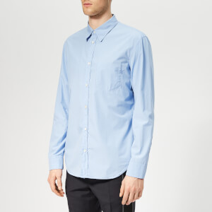 Maison Margiela Men's Slim Fit Garment Dyed Shirt - Light Blue