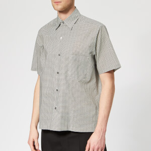 Maison Margiela Men's Micro Square Printed Shirt - Black