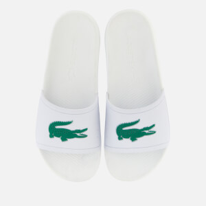 Lacoste Men's Croco Slide 119 1 Sandals - White/Green