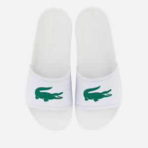 Lacoste Men's Croco Slide 119 1 Sandals - White/Green