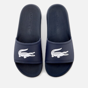 Lacoste Men's Croco Slide 119 1 Sandals - Navy/White