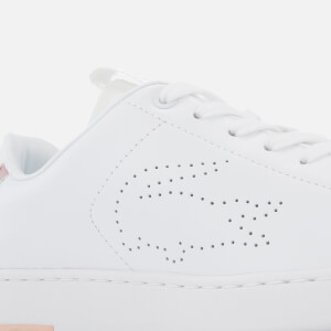 Lacoste Women's Carnaby Evo Light-WT 1193 Leather Trainers - White/Light Pink: Image 4